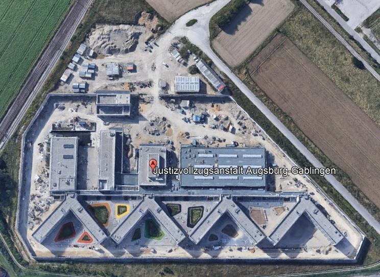 Ansicht der JVA Augsburg - Justizvollzugsanstalt.org