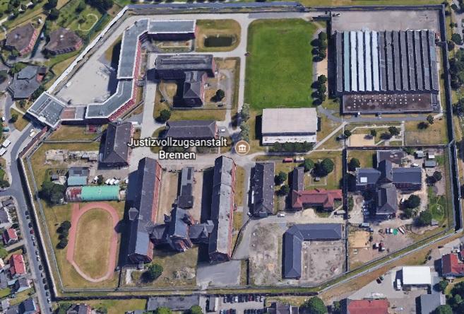 Ansicht der JVA Bremen - Justizvollzugsanstalt Oslebshausen - Justizvollzugsanstalt.org