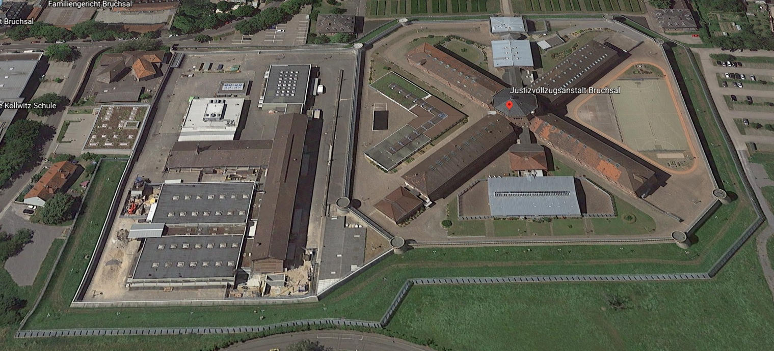 Ansicht der JVA Bruchsal - Justizvollzugsanstalt.org