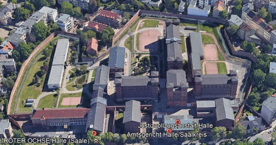 Ansicht der JVA Halle - Justizvollzugsanstalt.org