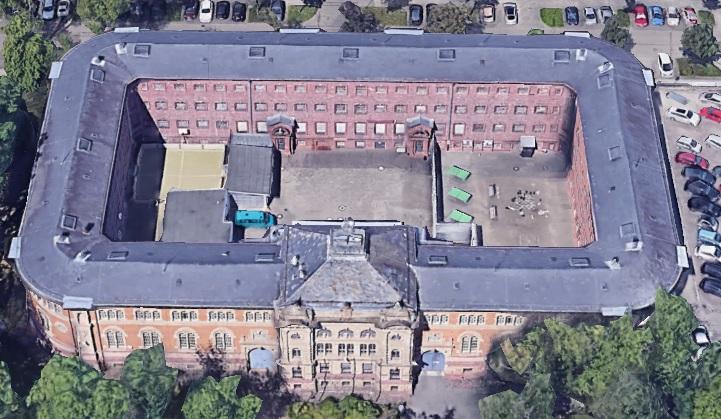 Ansicht der JVA Karlsruhe - Justizvollzugsanstalt.org