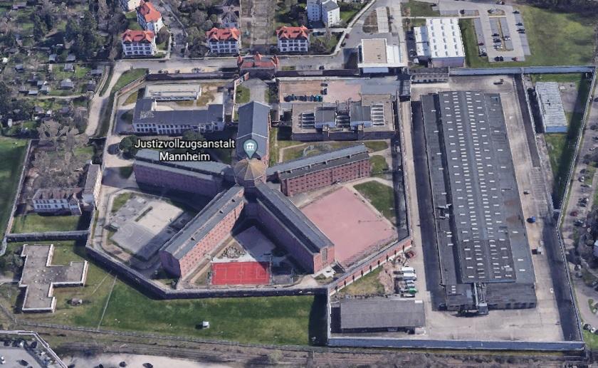 Ansicht der JVA Mannheim - Justizvollzugsanstalt.org