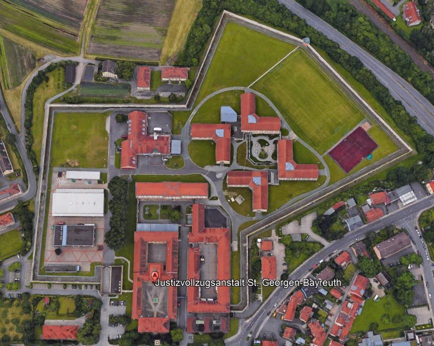 Ansicht der JVA Sankt Georgen-Bayreuth- Justizvollzugsanstalt.org