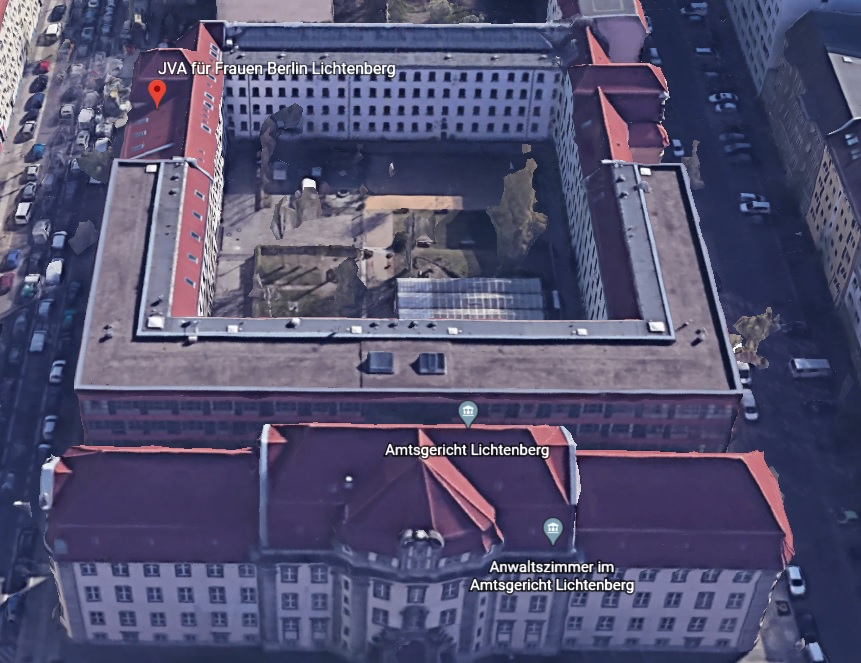 Ansicht der JVA für Frauen Berlin (Lichtenberg) - Justizvollzugsanstalt.org